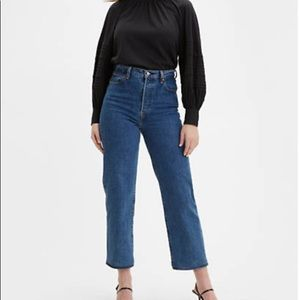 Levi's_Ribcage Straight Fit Ankle Jeans